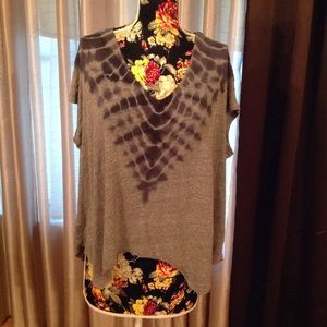 Free People We the free blue & grey summer top